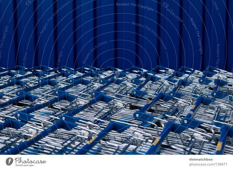 sea of sheet metal Tin Blue Shopping Trolley Vertical Silver Stripe Horizon Horizontal Ocean Wall (building) Corrugated sheet iron Obscure Transport Colour
