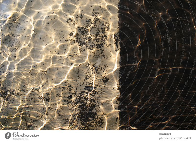 Caustics and contrast Water Contrast Transparent Reflection Stone Bright Dark Well Obscure caustically