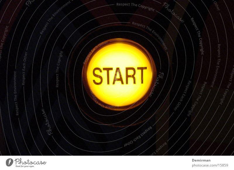 launch Buttons Light Beginning New start Yellow Dark Pinball Things ready