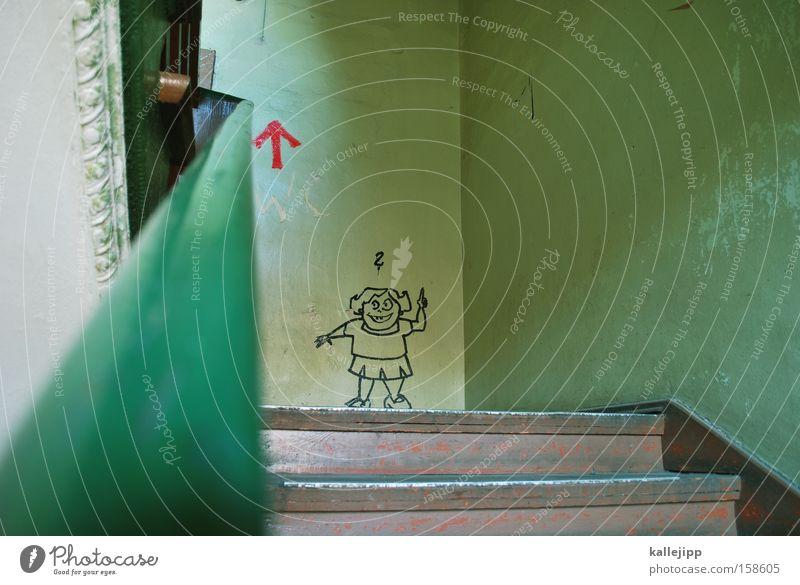 Girl Graffiti Education Funny Infancy Stairs School building Resume Arrow Document Direction Top Comic Career Joke Performance