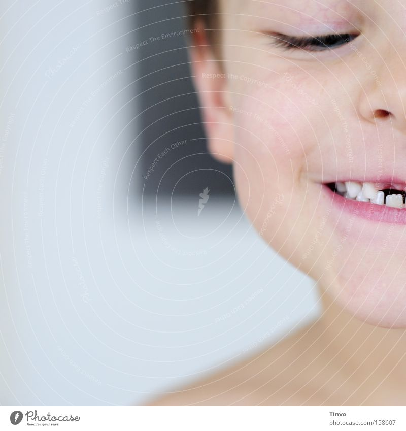 Courage to fill a gap Tooth space Teeth Empty Child Face Laughter Memory Loose tooth Happiness Joy Growth Gap tooth fairy