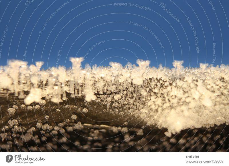 Sky Blue Winter Cold Ice Glittering Frost Frozen Freeze Hoar frost Ice crystal