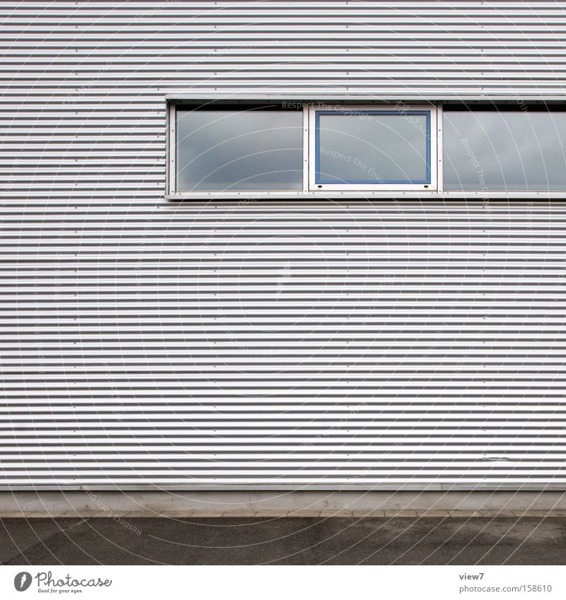Wall (building) Window Architecture Industry Arrangement Industrial Photography Hut Warehouse Hall Detail Surface Aluminium Storage Window arch Shutter