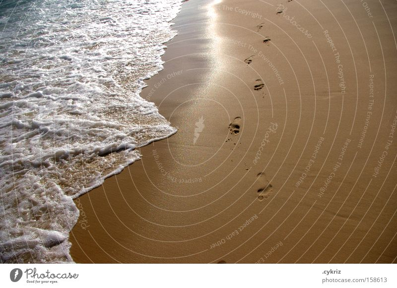 footprints Beach Footprint Ocean Sand Rio de Janeiro Lanes & trails Feet Waves Water Life Coast Barefoot