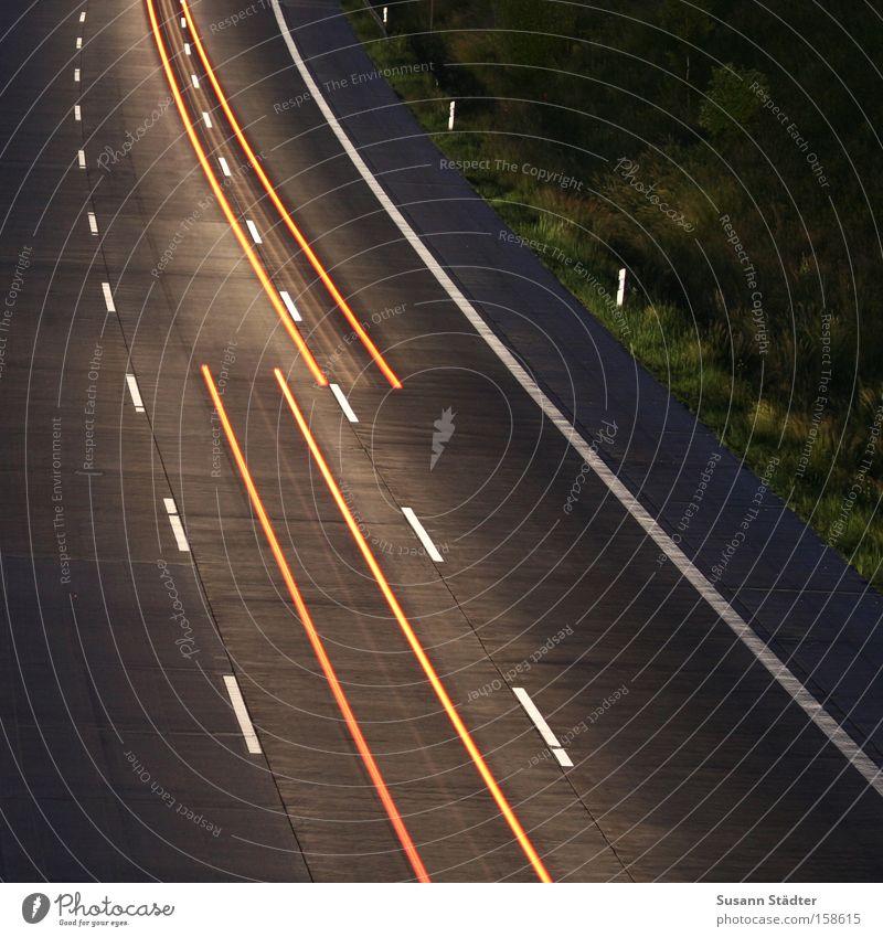 Stop and go! Highway Driving Speed Light Rear light Floodlight Car headlights Long exposure Bridge Time Wait Traffic infrastructure