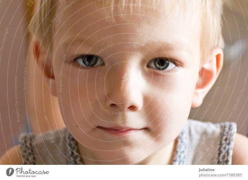 Cute boy with blond hair Child Schoolchild Boy (child) Infancy 1 Human being 3 - 8 years White kid preschooler six 7 Caucasian European Colour photo