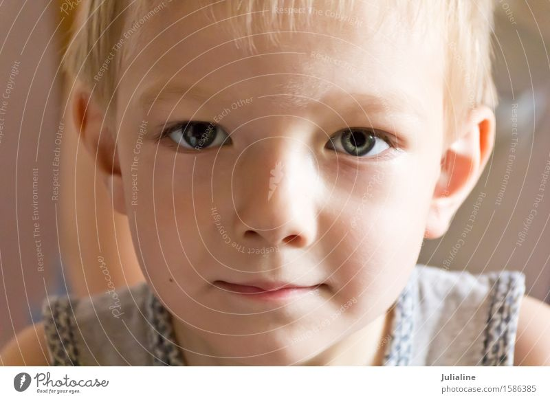 Cute boy with blond hair Human being Child White Boy (child) Infancy European 7 Schoolchild Caucasian 3 - 8 years
