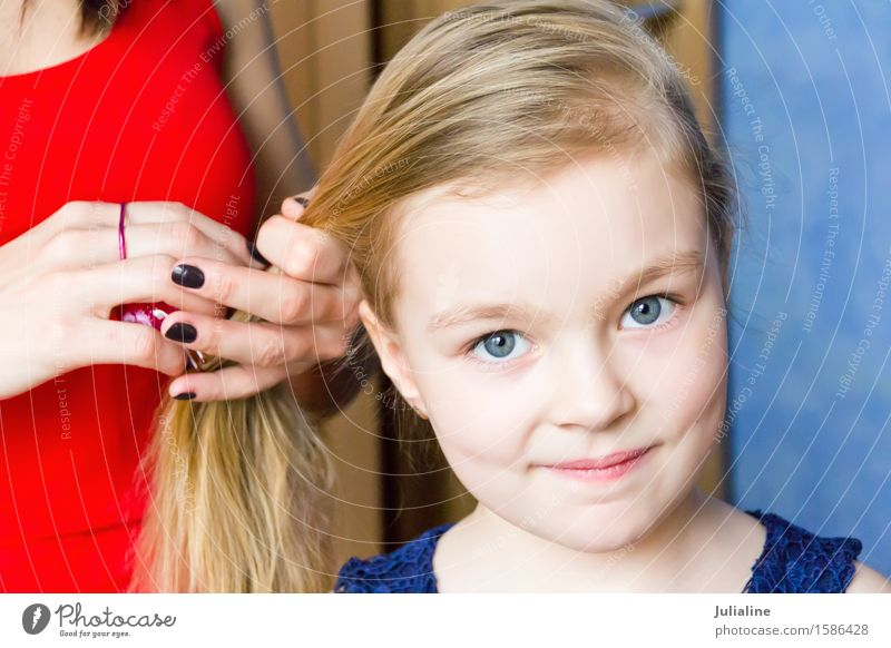 Cute girl with blond hair Hair and hairstyles Child Schoolchild Girl Infancy 3 - 8 years 8 - 13 years 18 - 30 years Youth (Young adults) Adults 30 - 45 years