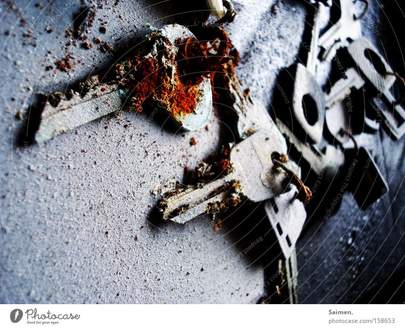 key cemetery Key Rust Old Defective Decay Cold Retirement Derelict End Door Transience Grief Loneliness Distress Feeble