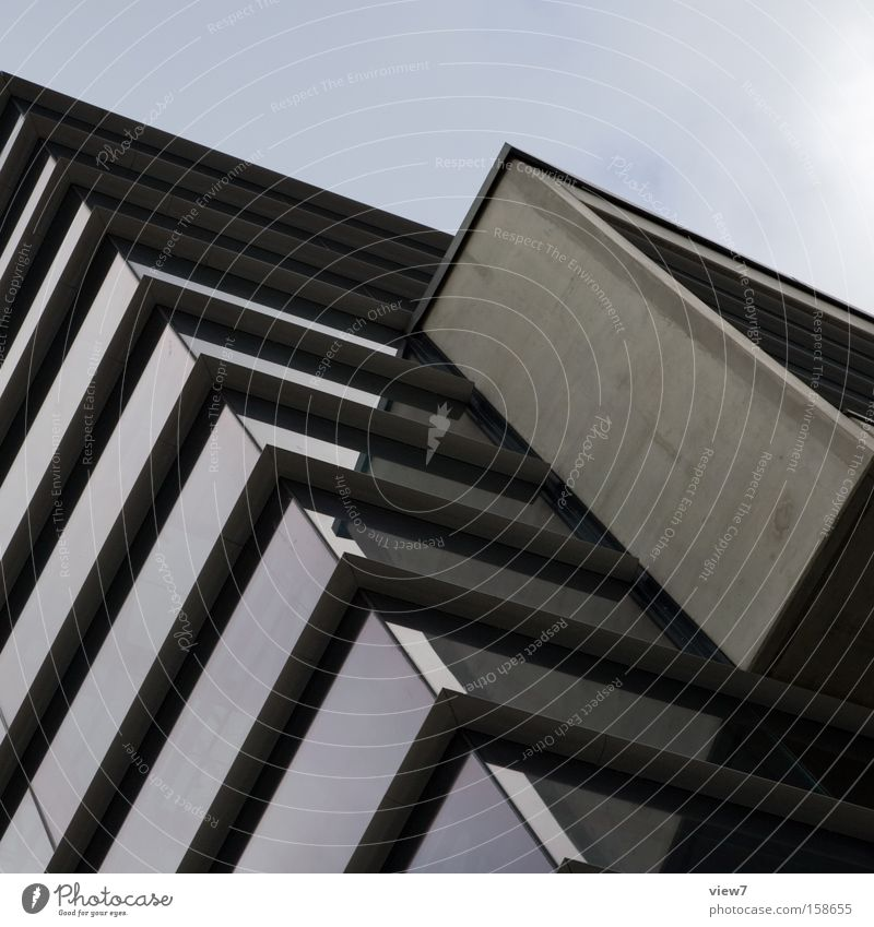 glass case Architecture Modern Future Glass Concrete Building Partially visible Story Detail Sky Cover Covered Floors bay window