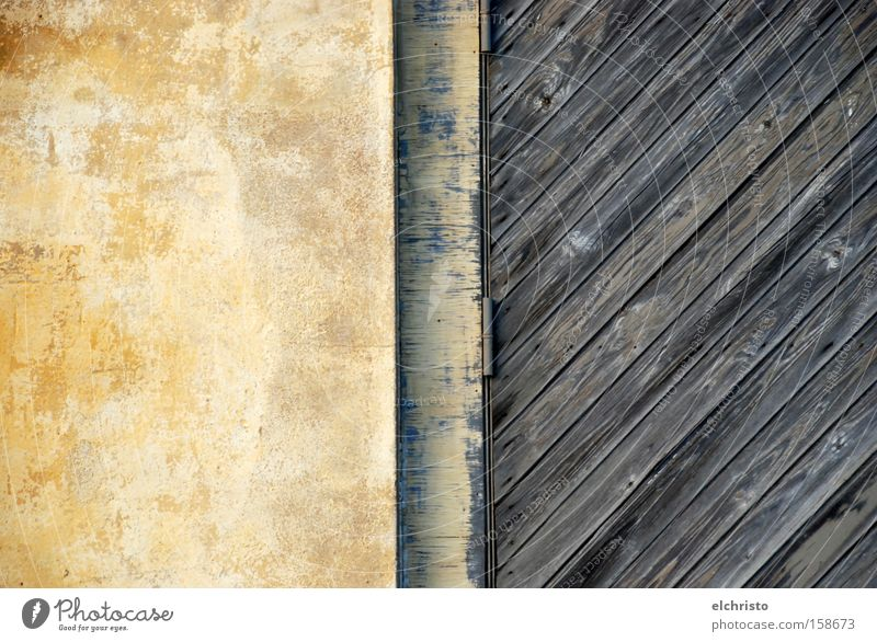 Old Yellow Wall (building) Wood Stone Door Derelict Wooden board Diagonal Mediterranean Dappled Intersection Hinge Dappled
