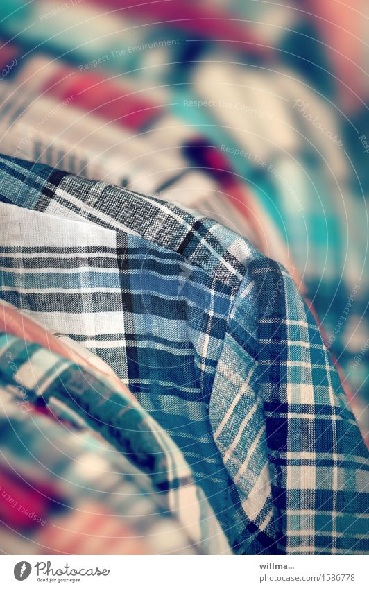 shirtnesses Textile industry Trade Shirt Checkered Clothing Fashion check shirt Multicoloured Selection Offer ready-made Colour photo Detail Pattern