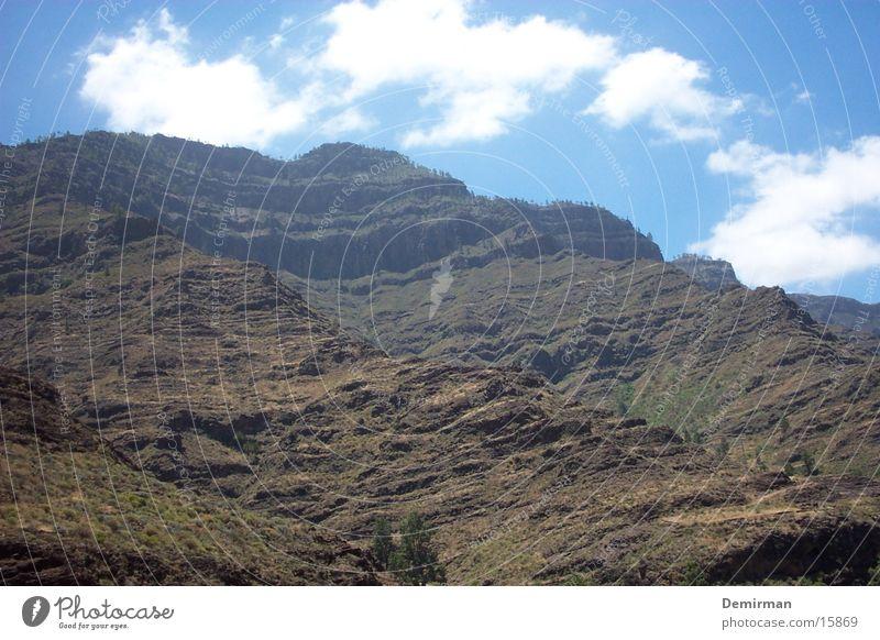 Beautiful Sky Blue Vacation & Travel Mountain Stone Landscape Rock Gloomy Spain Gran Canaria