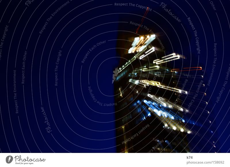 temps High-rise Light Stress Blue Walking Sudden fall To fall Evening Long exposure