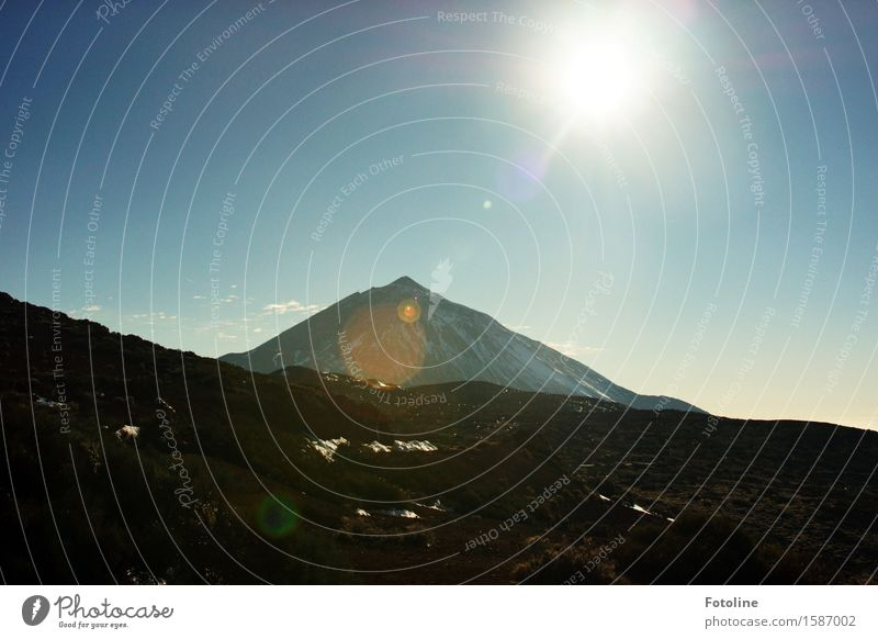 Teide Environment Nature Landscape Elements Earth Sky Cloudless sky Sunlight Beautiful weather Mountain Volcano Bright Tenerife Warmth Fresh Colour photo