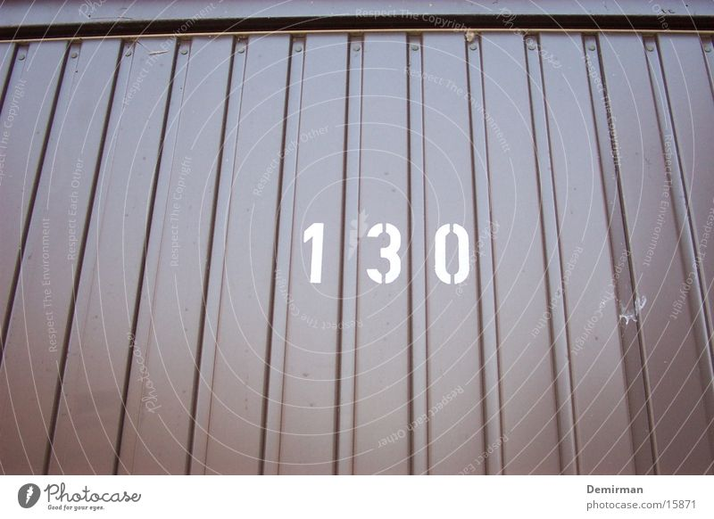 Brown Transport Digits and numbers Parking Furrow Garage 130