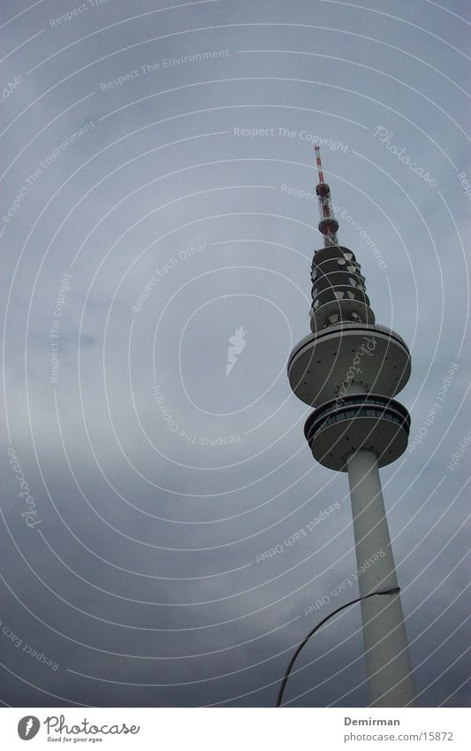 Clouds Architecture Hamburg Television Television tower Bad weather Hamburg TV tower