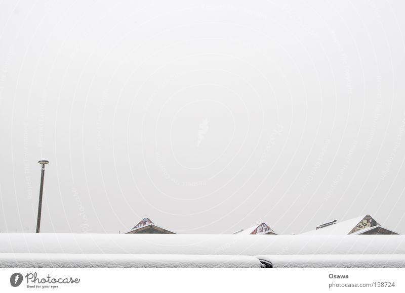 Sky White Winter Snow Gray Roof Lantern Train station Covered Gable Virgin snow