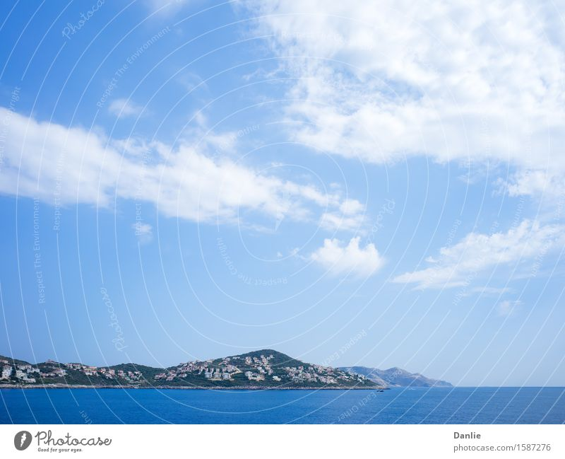 Kas Peninsula Residential Buildings in Summer Vacation & Travel Blue Summer Ocean Clouds Street Building Blue sky Peninsula Visit Kas the Aegean