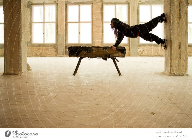 Human being Man Bright Architecture Healthy Horse Fitness Athletic Tension Sports Gymnastics Window transom and mullion