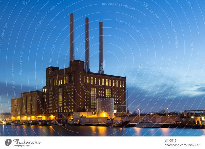 Svanemolle Power Plant in Copenhagen, Denmark Environment Architecture Building Energy Industry Dusk Chimney Station Environmental pollution Heating Supply
