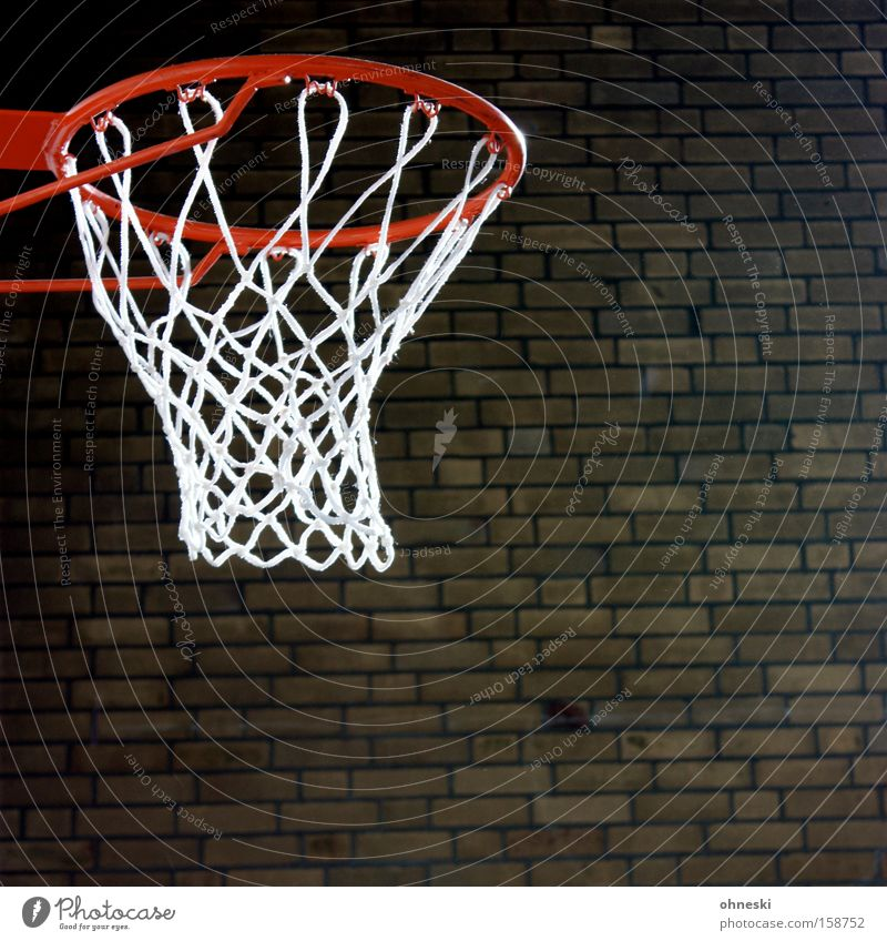 Sun in the basket Basketball Hall Gymnasium Stone Brick Wall (barrier) Sports Lessons Ball sports Education Leisure and hobbies