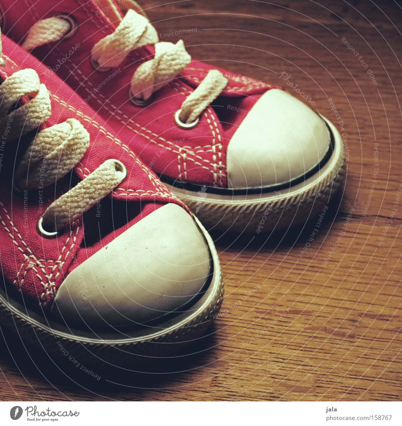 old school kids Footwear Sneakers Chucks Red Old-school Retro Classic Small Wood Leisure and hobbies Clothing Funsport Vintage