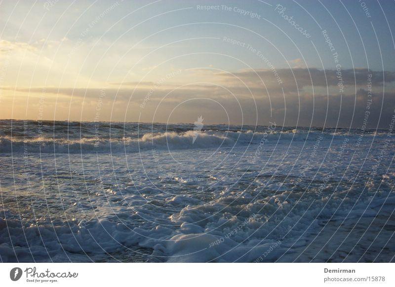 frothy Ocean Foam Beach Summer Fluid Water Sky Blue Bright Sun Nature