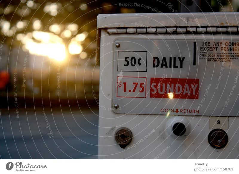 Daily Sunday Newspaper Sunset Media New start Information Sunrise Meaning Hawaii Communicate day and night holidays