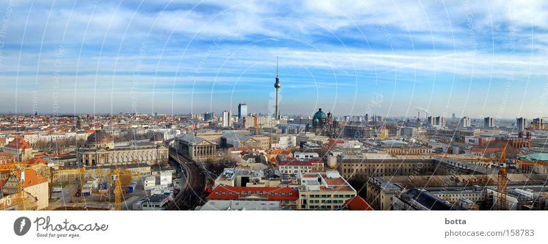 One almost flew over the TV tower. Berlin Panorama (View) Day Town Europe Airy Germany day light 360 Large Panorama (Format)