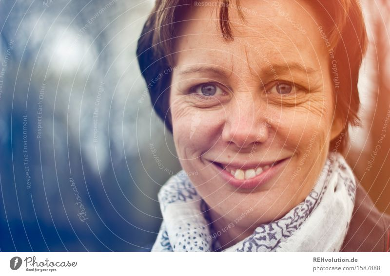 portrait of a woman Human being Masculine Young woman Youth (Young adults) Mother Adults 1 30 - 45 years Cloth Short-haired Smiling Friendliness Happiness