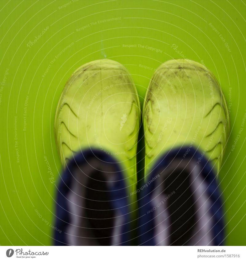 """Should I still put on my rubber boots?"" Child Infancy Footwear Boots Rubber boots Dirty Green Adventure Colour Joy Joie de vivre (Vitality) Small Colour photo"