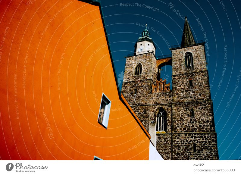 Blue White House (Residential Structure) Window Architecture Wall (building) Building Wall (barrier) Brown Germany Facade Orange Illuminate Church Tilt Manmade structures