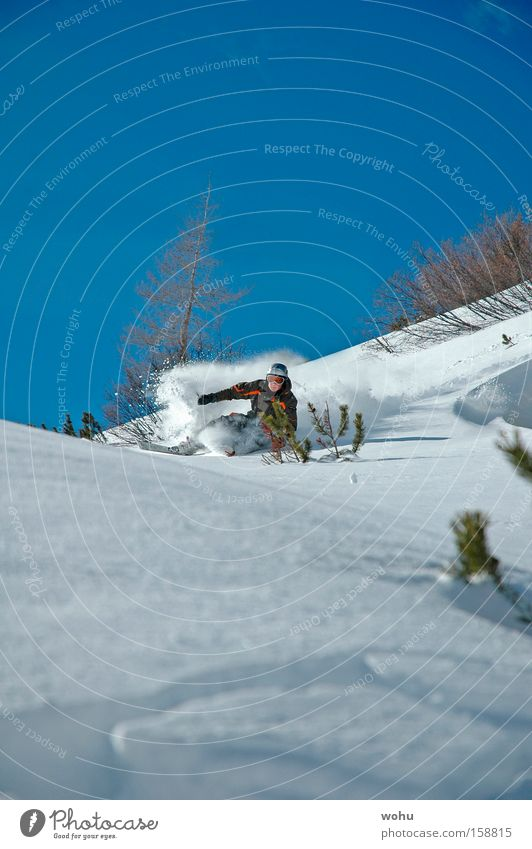 Steve Podborski Snow Skiing Skis Winter sports Deep snow Mountain Austria Powder snow Joy Free skiing downhill Thrill