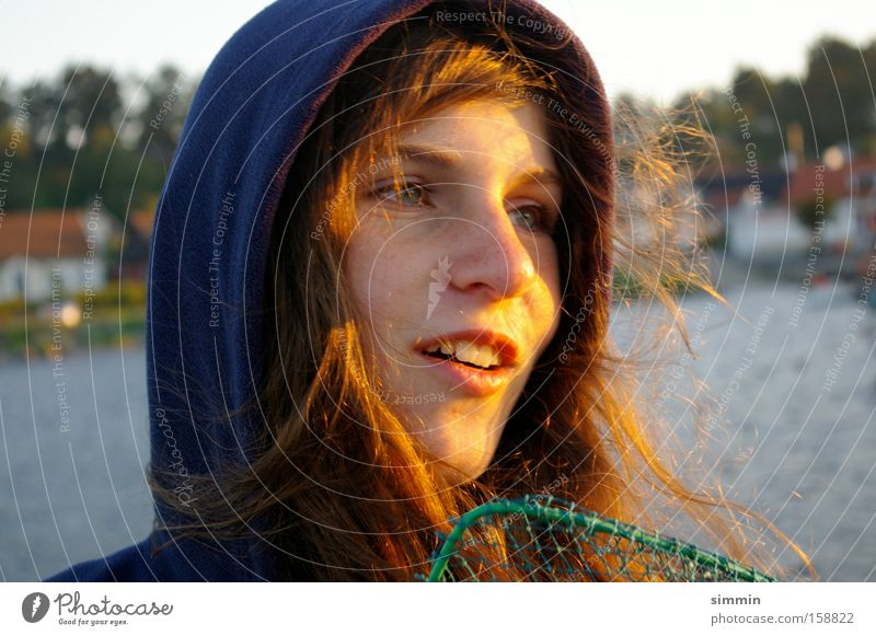 Petri salvation Portrait photograph Fisherman Angler Harbour Sweden Evening Joy Youth (Young adults) sun catcher cachers