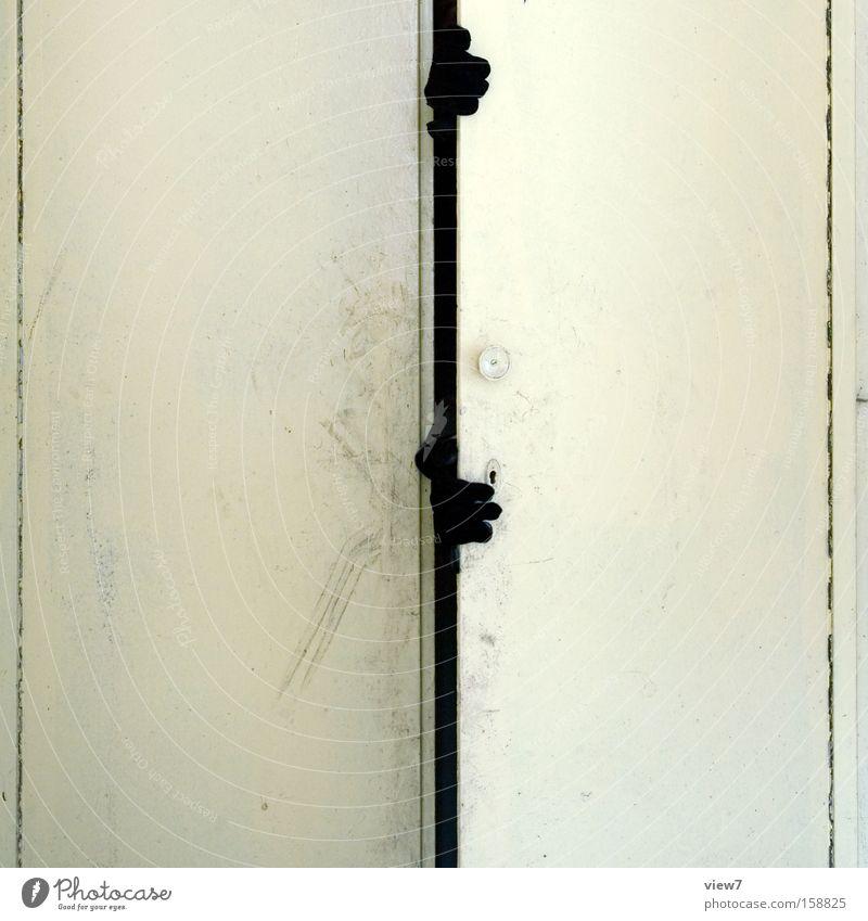 Hand Fear Door Grief Creepy Furniture Distress Panic Door handle Thief Image (representation) Gloves Criminality Cupboard Hiding place Break-in