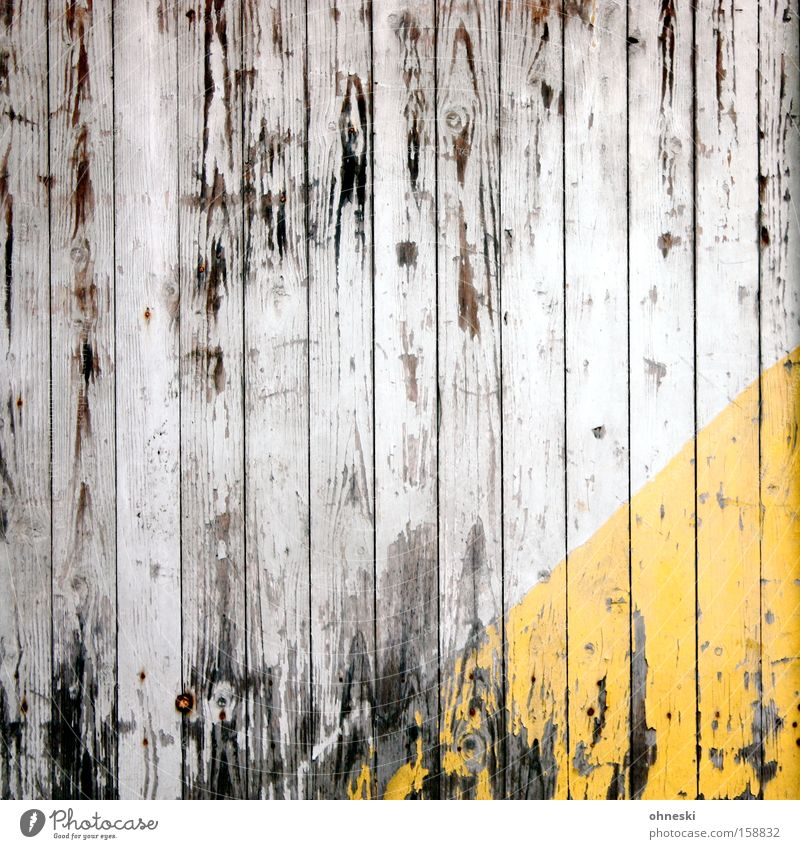 old Wood Wooden board Wall (building) Triangle Yellow Decompose Old Shabby Transience Time Brittle Hut Decline Derelict