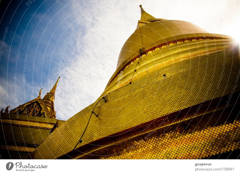Gold Roof Tower Asia Hat Historic Temple House of worship