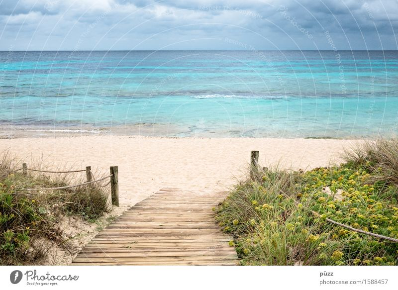 Sky Nature Vacation & Travel Blue Summer Water Ocean Relaxation Landscape Clouds Far-off places Beach Yellow Coast Freedom Swimming & Bathing