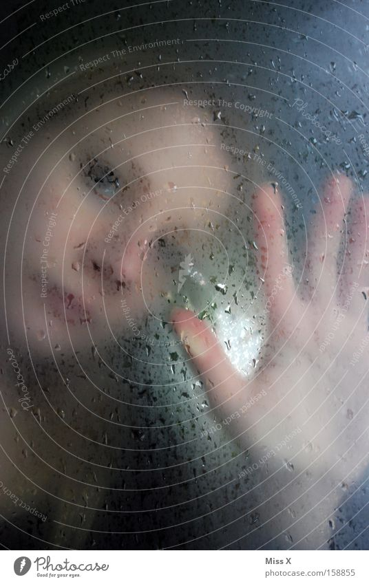Woman Hand Water Face Window Head Sadness Rain Fear Blonde Drops of water Grief Gloomy Vantage point Longing