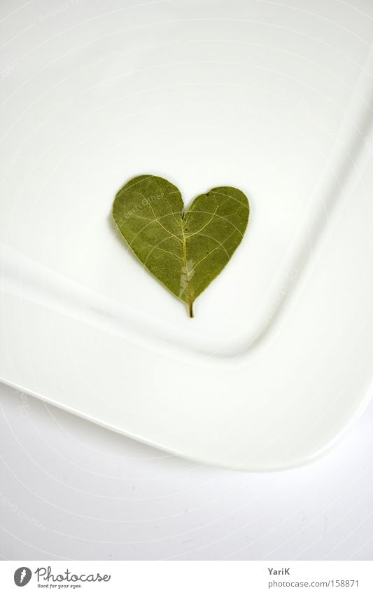 White Leaf Love Nutrition Bright Heart Table Cooking & Baking Kitchen Herbs and spices Plate Work and employment Crockery Proffer Vegetarian diet