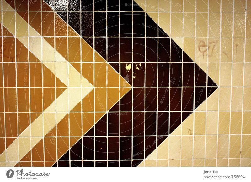 Whenabouts In LA Arrow Tile Direction Lanes & trails Road marking GDR Underground Geometry Triangle Tunnel Architecture hellersdorf