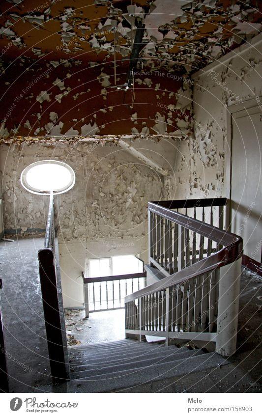Window Architecture Stairs Allgäu Derelict Handrail Staircase (Hallway) Bavaria Lake Weißensee
