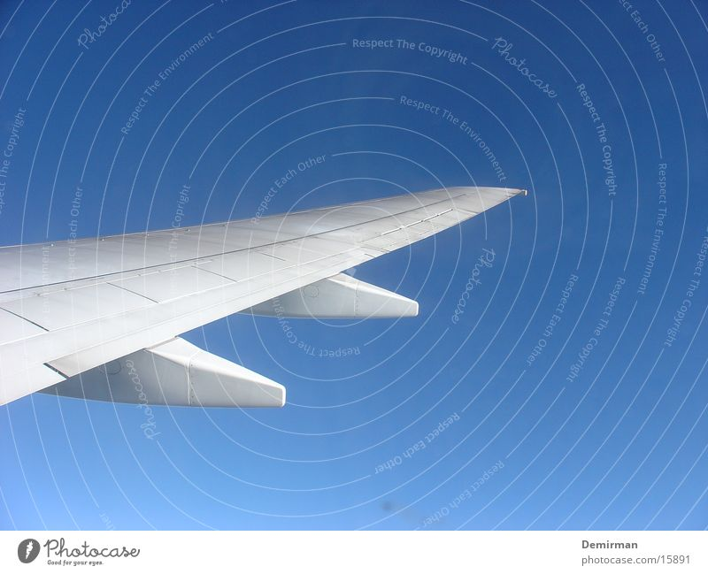 Sky White Blue Summer Vacation & Travel Airplane Aviation Wing Go up South Covers (Construction)