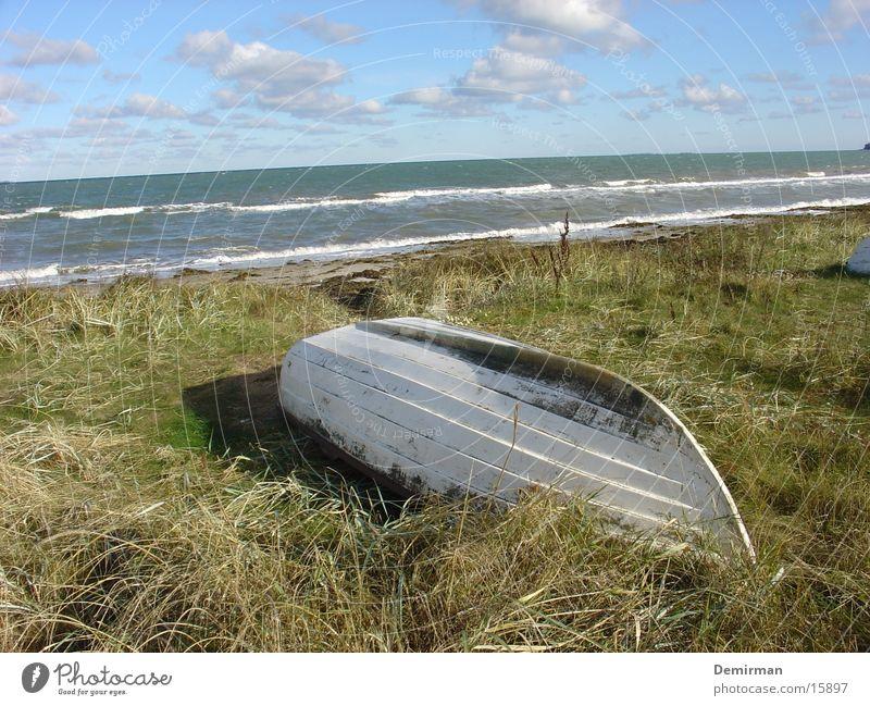 Nature Water Beautiful Sky White Ocean Beach Loneliness Meadow Grass Watercraft Island Obscure Foam Denmark Stranded