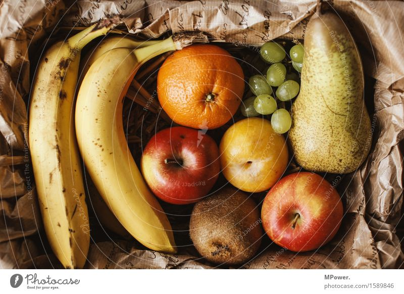 biomass Food Fruit Apple Orange Nutrition Good Organic produce Vitamin Bunch of grapes Pear Kiwifruit Banana Plum Farmer's market Region Healthy Healthy Eating