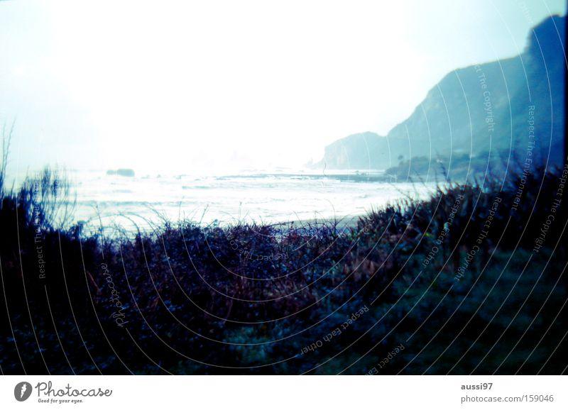99 mile beach Coast Rough White crest Dreary New Zealand Cliff Rock Clouds Australia Beach Sadness