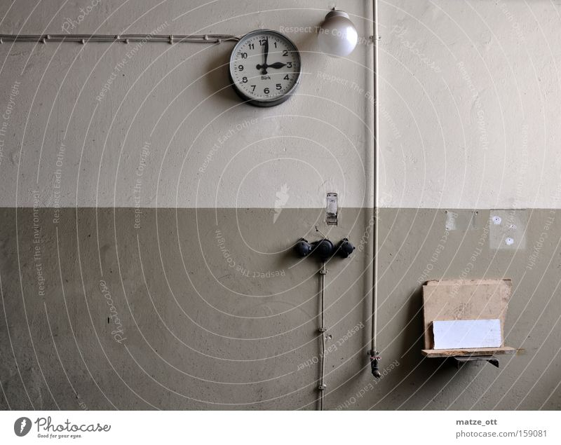 Old Loneliness Lamp Wall (building) Time Industry Industrial Photography Cable Factory Clock Derelict Date Switch Rack Control device
