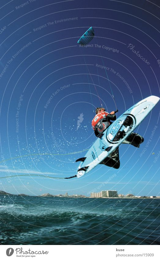 Ocean Summer Vacation & Travel Sports Jump Surfing Spain Kite Aquatics Kiting Extreme sports