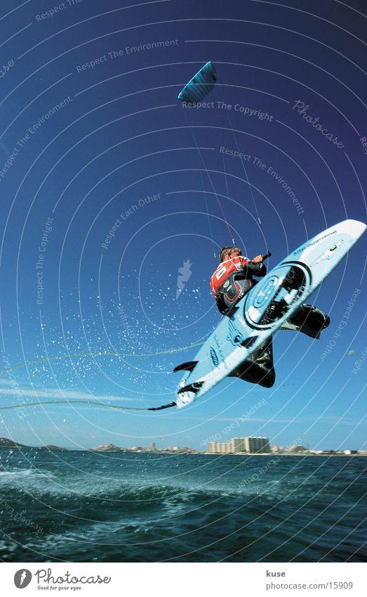 Ocean Summer Vacation & Travel Sports Jump Surfing Spain Kite Aquatics Kiting Extreme sports